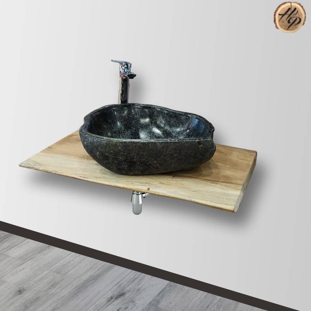Plan De Travail Bois 280 plan de travail bois exotique de suar pour salle de bain ou