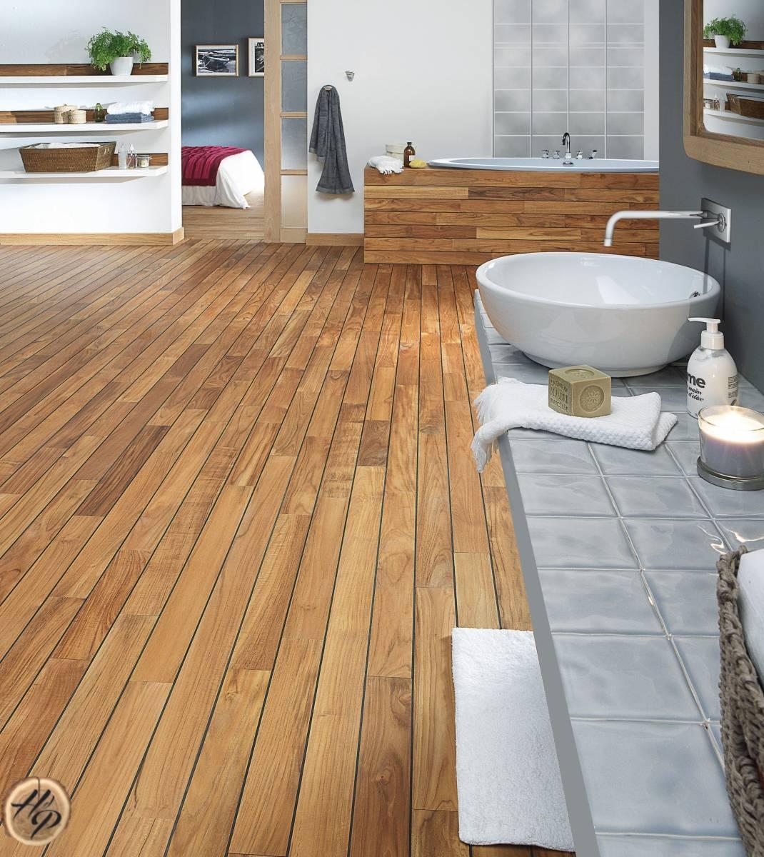 parquet pour salle de bain pont de bateau en bois exotique. Black Bedroom Furniture Sets. Home Design Ideas